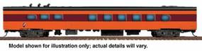 Walthers Milwaukee Road 1955 Twin Cities Hiawatha Streamlined Cars Assembled 48-Seat Diner #121-126 - HO-Scale