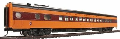 Walthers Milwaukee Road 1955 ''Twin Cities Hiawatha'' Streamlined Cars Assembled -- 30-Seat Parlor ''...Valley'' Series #190-197 - HO-Scale