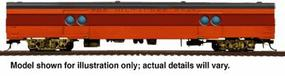 Walthers 1955 Twin Cities Hiawatha Express Car #2 - Ready to Run Milwaukee Road #1317-1329 (orange, maroon, black) - HO-Scale