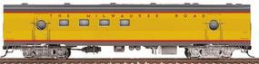 Walthers Milwaukee Road Railway Post Office Car #2152-53 - Ready to Run Milwaukee Road (UP City Scheme, Armour Yellow, gray) - HO-Scale
