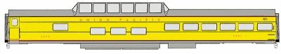 Walthers UP City Streamliner Cars Ready to Run -- Observation-Dome-Lounge #9000-9014 ACF Lot #4096 Union Pacific(R) - HO-Scale