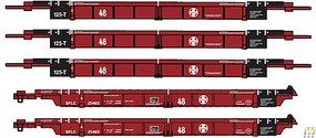 WalthersN 5-Unit Articulated 48 Well Car Santa Fe SFLC #254165 - N-Scale