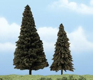 Woodland Scenics Ready Made Premium Evergreen Trees -- 4-5'' pkg(2) -- Model Railroad Tree -- #1626