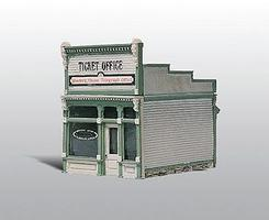 Woodland Scenic Detail Ticket Office Kit (Unpainted Metal) HO Scale Model Railroad Building #222