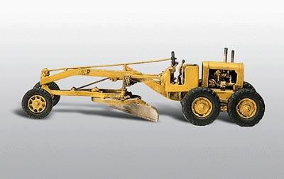 Woodland Scenics Motor (Road) Grader -- HO Scale American Construction Equipment (Unpainted Metal Kit) -- #234