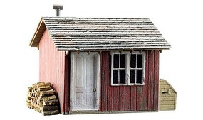 Woodland Work Shed Built-&-Ready HO Scale Model Railroad Structure #5057