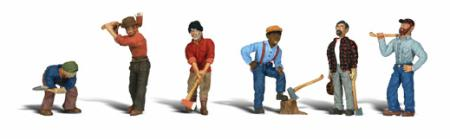 Woodland Scenics Lumberjacks -- HO Scale Model Railroad Figure -- #a1876
