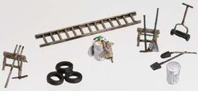 Woodland Garage Treasures HO Scale Model Railroad Building Accessory #a1928