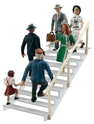 Woodland Scenics Taking The Stairs -- HO Scale Model Railroad Figure -- #a1954