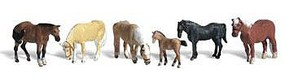 Woodland Farm Horses N Scale Model Railroad Figure #a2141