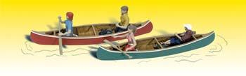 Woodland Scenics Canoers -- N Scale Model Railroad Figure -- #a2200