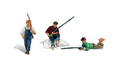 Woodland Scenics Scenic Accents(R) Figures -- Fishing Buddies -- G Scale Model Railroad Figures -- #a2569