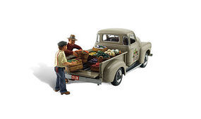 Woodland Pauls Fresh Market AutoScenes N Scale Model Railroad Vehicle #as5346