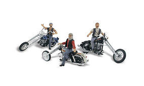 Woodland Bad Boy Bikers Autoscene HO Scale Model Railroad Vehicle #as5554