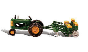 Woodland Tractor & Planter Autoscene HO Scale Model Railroad Vehicle #as5565