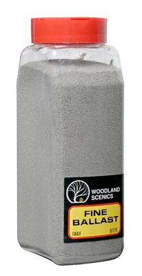 Woodland Scenics Ballast -- Fine (Gray) 32 oz -- Model Railroad Ballast -- #b1375