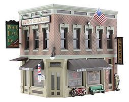 Woodland Built-N-Ready Corner Emporium 2-Story Building N Scale Model Railroad Building #br4923
