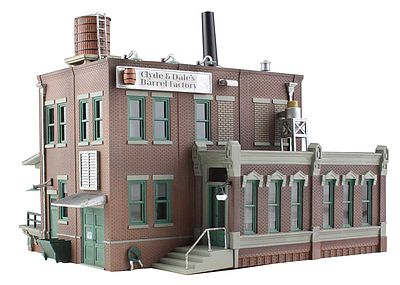 Woodland Scenics Clyde & Dale's Barrel Factory -- N Scale Model Railroad Building -- #br4924