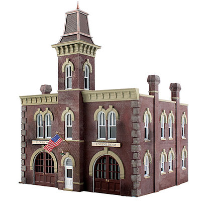 Woodland Scenics Firehouse -- HO Scale Model Railroad Building -- #br5034