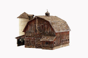 Woodland Old Weathered Barn Built & Ready HO Scale Model Railroad Building #br5038