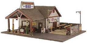 Woodland Ethyls Gas/Service HO Scale Model Railroad Building #br5048