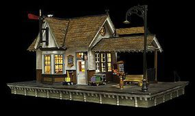 Woodland The Depot Built-N-Ready HO Scale Model Railroad Building #br5052
