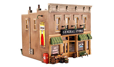 Woodland Scenics Built-N-Ready Lubener's 2-Story General Store -- O Scale Model Railroad Building -- #br5841