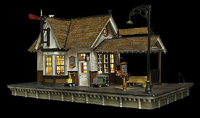 Woodland Scenics The Depot Built-N-Ready -- O Scale Model Railroad Building -- #br5852
