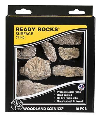 Woodland Scenics Ready Rocks -- Surface Rocks -- Model Railroad Miscellaneous Scenery -- #c1140