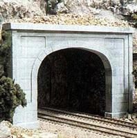 Woodland Concrete Double Portals (2) N Scale Model Railroad Tunnel #c1156