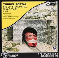 Woodland Tunnel Portal Cut Stone O Scale Model Railroad Tunnel #c1267