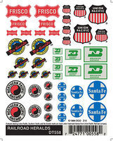 Woodland Railroad Heralds Model Railroad Decal #dt558