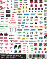 Woodland Service Station Signs Decal Sheet Model Railroad Decal #dt574