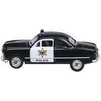 Woodland Just Plug Lighted Police Car HO Scale Model Railroad Vehicle #jp5593