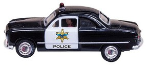 Woodland Just Plug Lighted Police Car N Scale Model Railroad Vehicle #jp5613