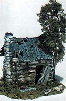 Woodland Abandoned Log Cabin Kit HO Scale HO Scale Model Railroad Building #m101