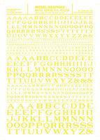 Woodland Roman R.R. Letters Yellow 1/16 - 5/16 Model Railroad Decal #mg705