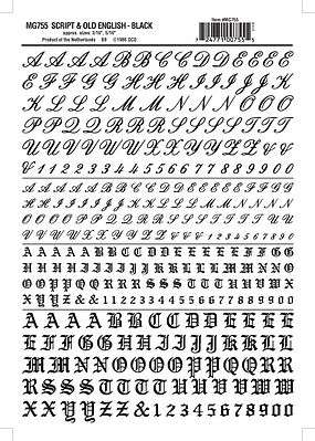 Script old english lettersnumbers black 316 516 model woodland scenics script old english lettersnumbers black 3 thecheapjerseys Choice Image