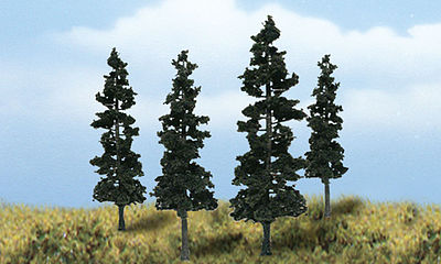 Woodland Scenics Scene-A-Rama Ready Made Conifer Trees (4/pk)