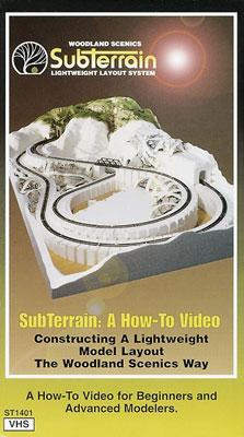 Woodland Scenics Sub Terrain How-To VHS -- Hobby Model DVD Video Tape General -- #st1401