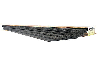 Woodland Scenics Flexible Track-Bed Foam 3mm 3.25 x24 (6) N Scale -- N Scale Model Train Track Roadbed -- #st1460