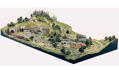 Woodland Scenics Grand Valley Layout -- HO Scale -- Model Railroad Scenery Supply -- #st1483