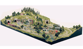 Woodland Grand Valley Layout HO Scale Model Railroad Scenery Supply #st1483