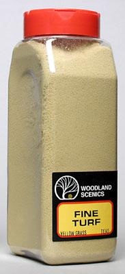 Woodland Scenics Turf Fine Yellow Grass 32 oz -- Model Railroad Grass Earth -- #t1343