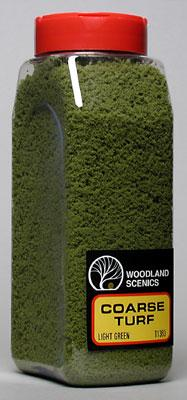 Woodland Scenics Turf Coarse Light Green 32 oz -- Model Railroad Grass Earth -- #t1363