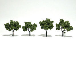 Woodland Scenic Accents Assembled Tree Light Green 2-3 (4) Model Railroad Tree #tr1503