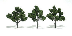 Woodland Scenic Accents Assembled Tree Medium Green 4-5 (3) Model Railroad Tree #tr1510