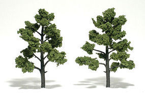 Woodland Scenic Accents Assembled Tree Light Green 5-6 (2) Model Railroad Tree #tr1512
