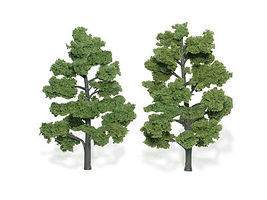 Woodland Scenic Accents Assembled Tree Light Green 6-7 (2) Model Railroad Tree #tr1515