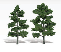 Woodland Scenic Accents Assembled Tree Medium Green 6-7 (2) Model Railroad Tree #tr1516